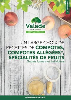 Compotes et compotes allégées Valade Restauration