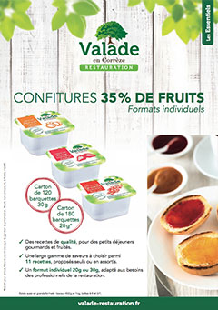 Confiture 35% de fruits - Grand Individuel Valade Restauration