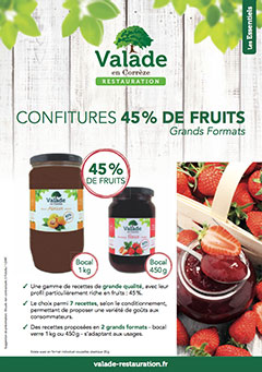 Confitures 45% de fruits - Grands Formats - Valade Restauration