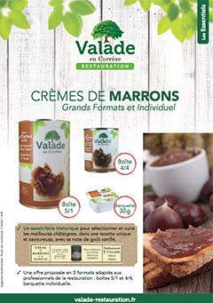 Crème de marrons - Valade Restauration