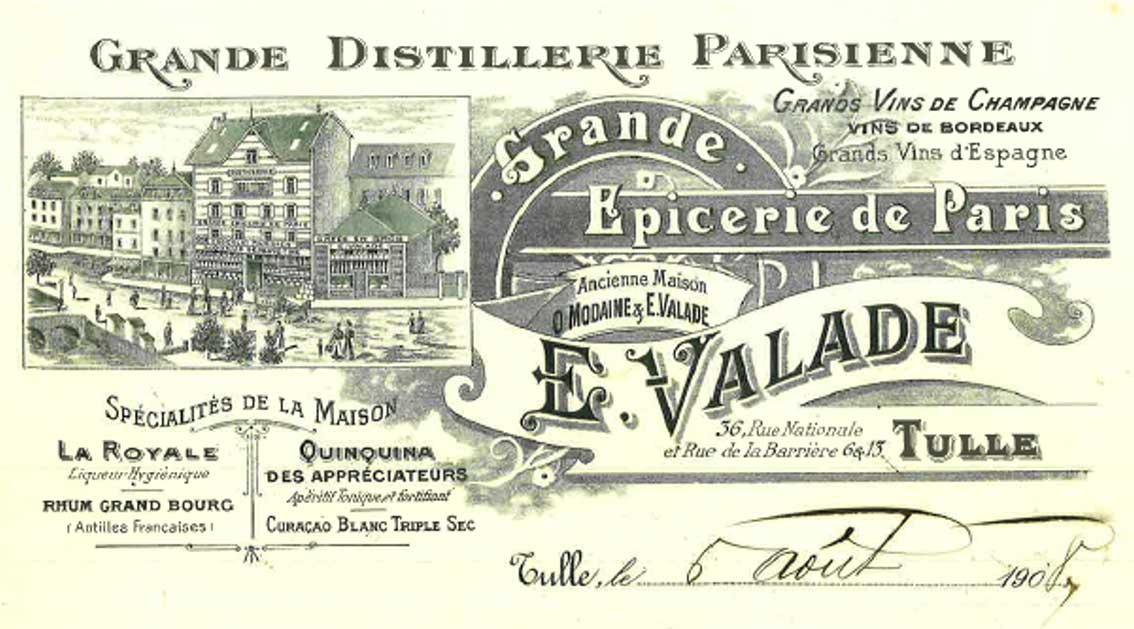 Epicerie Valade avant 1920